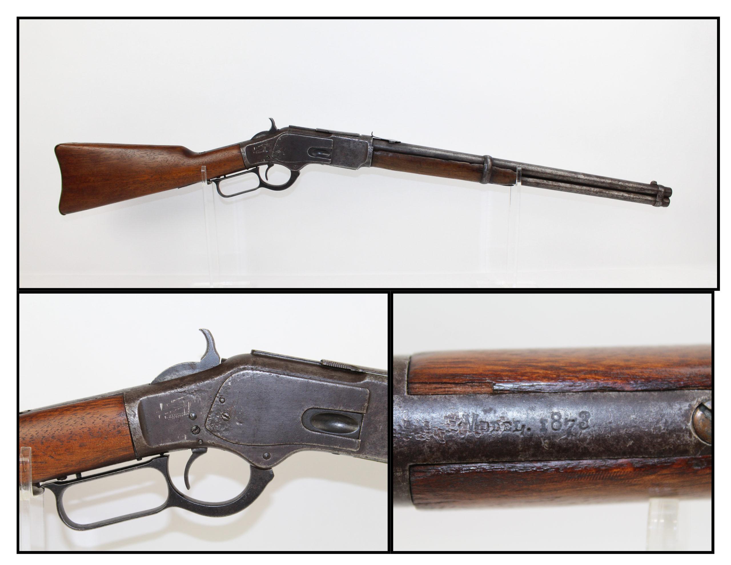 Antique WINCHESTER 1873 Lever Action .44 CARBINE 2nd Model Saddle ...